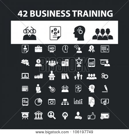 business training icons, signs vector set for mobile, website, infographics