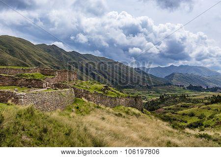 Pakapukara Inca Ruins near Cuzco, Peru