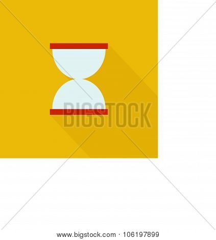 Hourglasses Icon , Flat Design Style, Vector Illustration. Long Shadow Icon.
