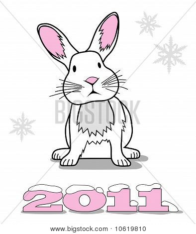 White Rabbit Symbol Of New Year