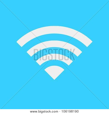 Wireless Network Symbol Of Wifi Icon, Vector Illustration.
