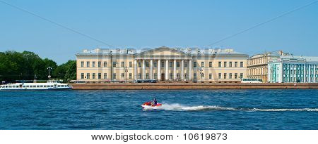 Walking Boats On The River Neva