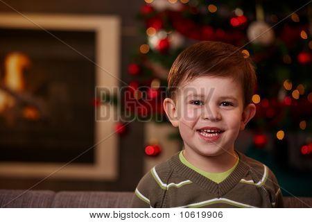 Small Boy At Christmas