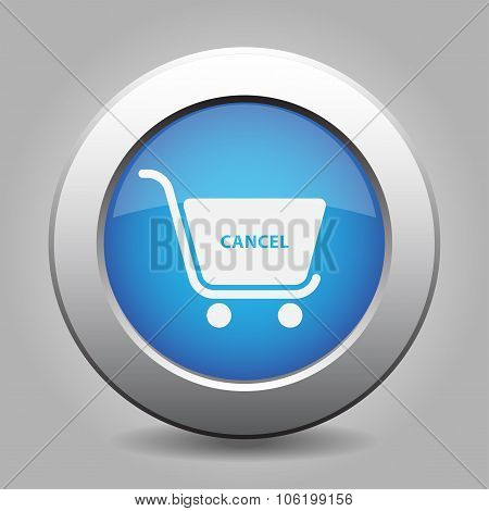 Blue Button Shopping Cart Cancel