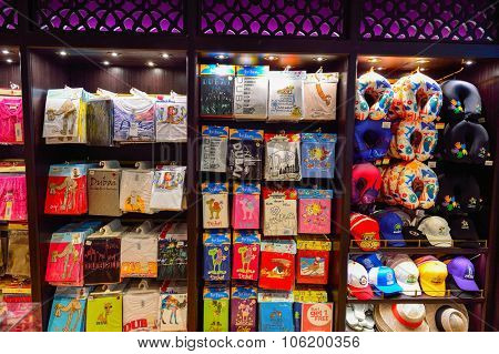 DUBAI - SEPTEMBER 08, 2015: interior of Dubai Duty Free. Dubai Duty Free is the largest single airport retail operation in the world