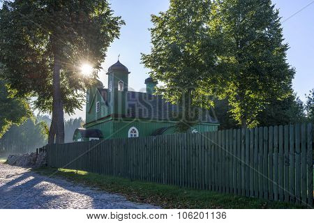 Wooden Tatar Mosque In Kruszyniany, Poland