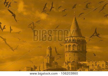 Galata Tower, Pop Art Design