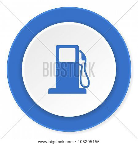 petrol blue circle 3d modern design flat icon on white background