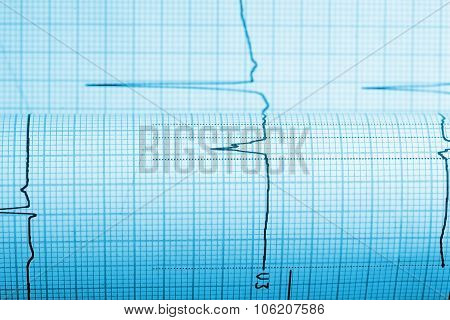 Paper With Curve Of A Seismograph