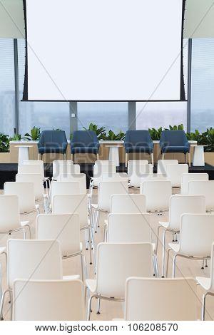 Empty seminar room
