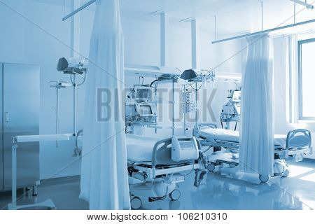 Empty Bed In Personalized Ward
