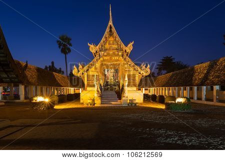 Wat Ton Kain Old wooden temple in Chiang Mai Thailand.