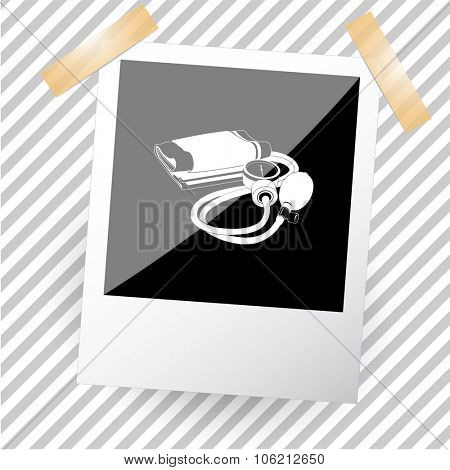 blood pressure. Photoframe. Vector icon.