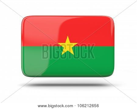 Square Icon With Flag Of Burkina Faso
