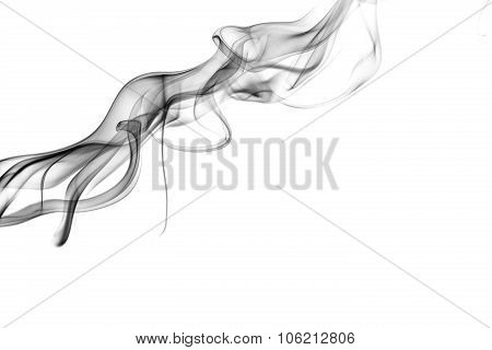 Abstract Smoke On A White Background.