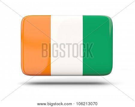 Square Icon With Flag Of Cote D Ivoire