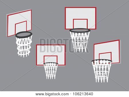 Baskets For Basketball Sport Vector Illustration