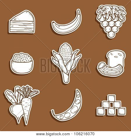 Paleo diet stickers