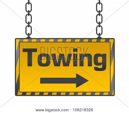 Towing Signboard Yellow Black
