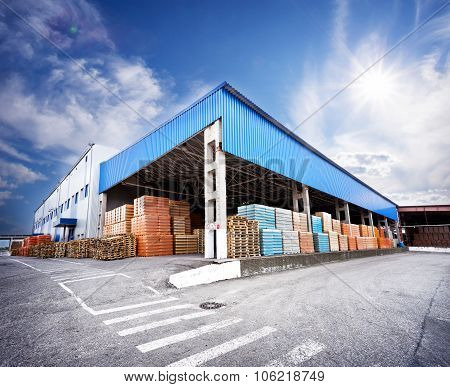 Warehouse with finished products