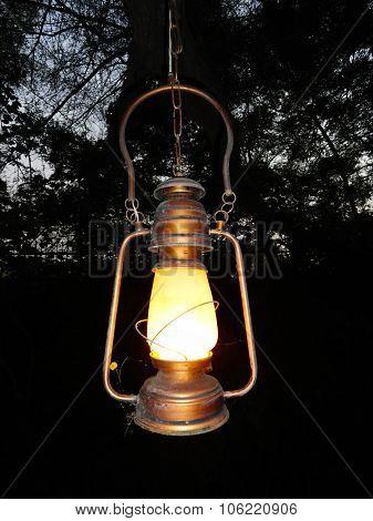 Old Kerosene Hanging Lantern