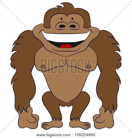 An image of a cartoon ape.