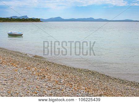 Calm pebble beach