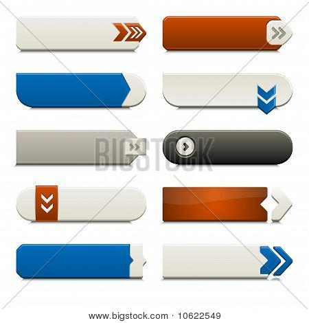 Flat Web Buttons Elements