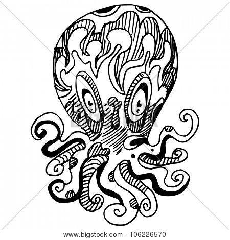 An image of a weird octopus.