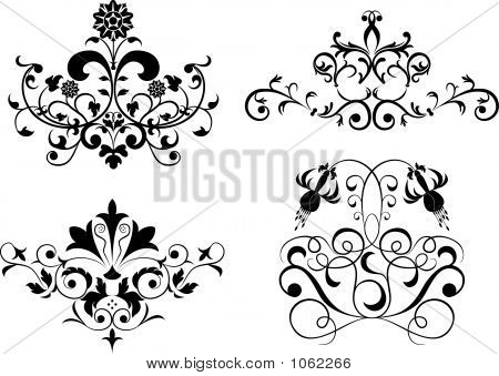 Collect Element For Design, Set Flower, Vector