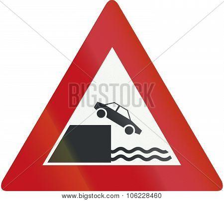 Netherlands Road Sign J26 - Quayside Or River Bank