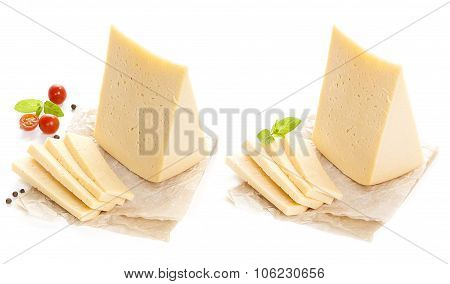 cheese isolated on white background.