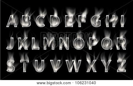 Smoke font collection.
