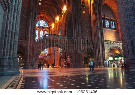 Liverpool Cathedral interior, UK
