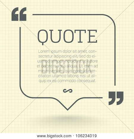 Quote vector mock up.