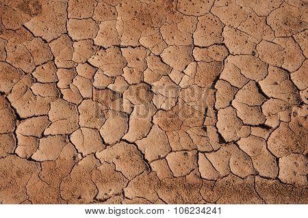 Soil Cracks Desert Sands