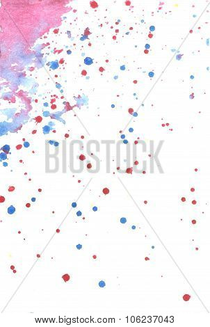 Splashes of watercolor background