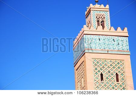 History In Maroc Africa   Eligion And The Blue     Sky
