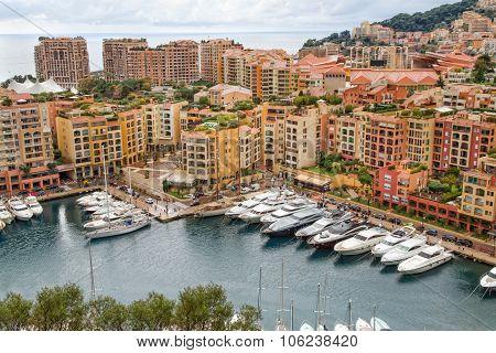 Monaco harbor Fontvieille