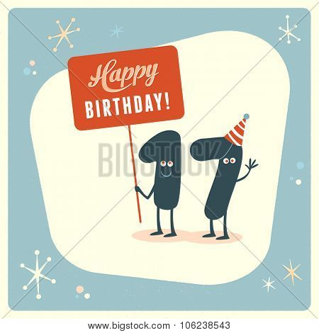 Vintage style funny 17th birthday Card.