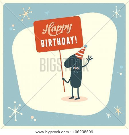 Vintage style funny 1st birthday Card.