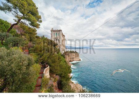 View of Oceanographic Museum in Monaco