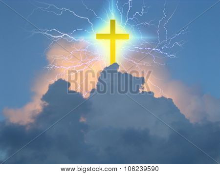 Cross radiates supernatural energy