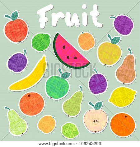 Vector Fruit Sticker