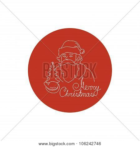 Linear Icon  Santa Claus