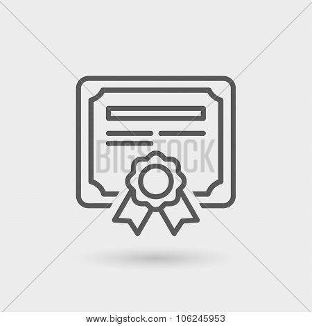 Certificate Thin Line Icon