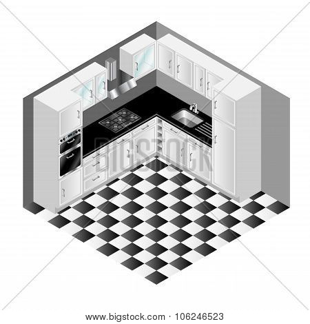 Isometric Kitchen Vector