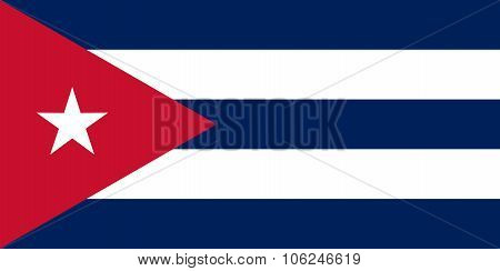 National Flag Of Cuba In Official Colors And Proportions