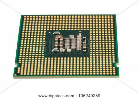 Electronic Collection - Computer Cpu Processor Chip Isolated On White Background