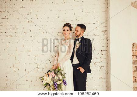 Bride And Groom Indoors